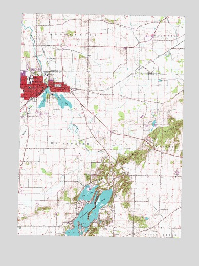 Whitewater, WI Topographic Map   TopoQuest