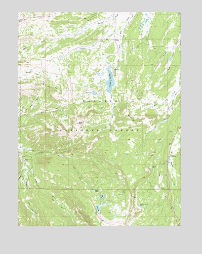 Whitney Reservoir, UT USGS Topographic Map