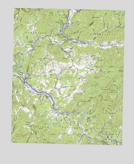 Whittier, NC Topographic Map   TopoQuest