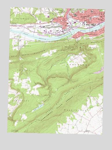 Williamsport Pa Topographic Map Topoquest
