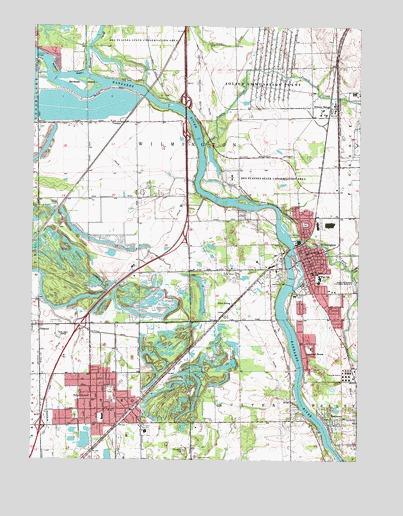 Wilmington IL Topographic Map  TopoQuest