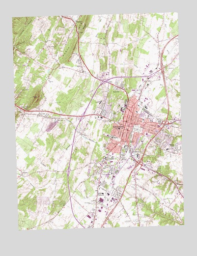 Winchester, VA Topographic Map - TopoQuest