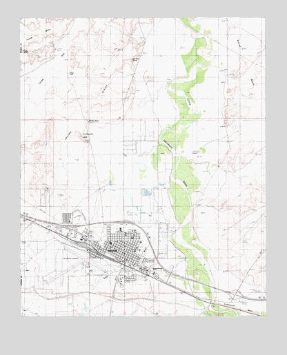Winslow Az Topographic Map Topoquest