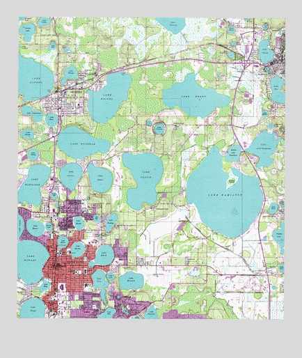 Winter Haven Florida Map Winter Haven, FL Topographic Map   TopoQuest Winter Haven Florida Map