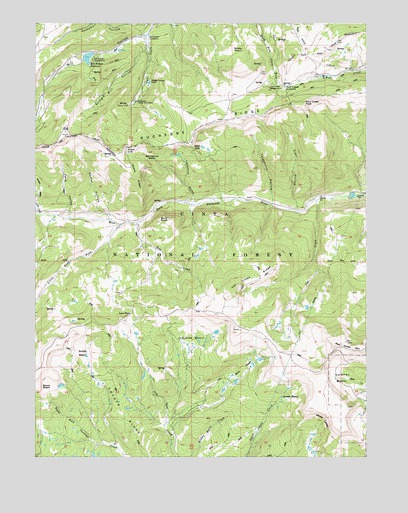 Wolf Creek Summit, UT USGS Topographic Map