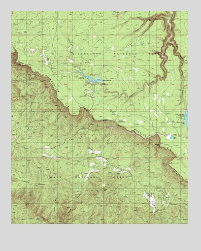 Woods Canyon Az Topographic Map Topoquest