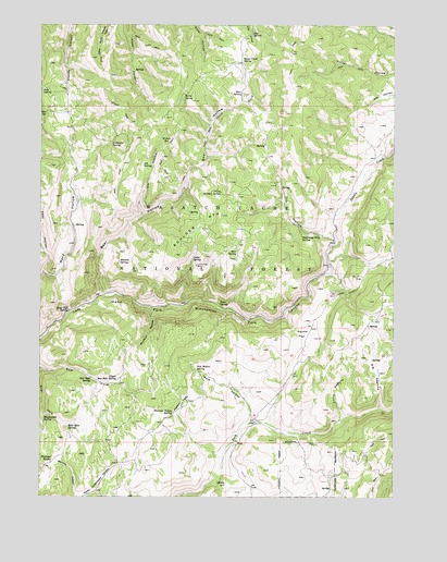 Boulder Mountain, UT USGS Topographic Map