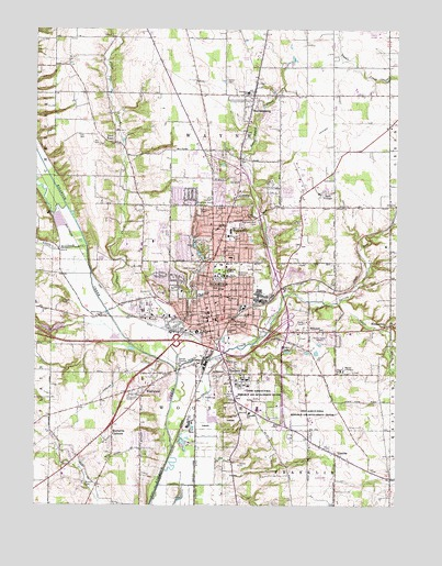 Map Of Wooster Ohio Wooster, OH Topographic Map   TopoQuest