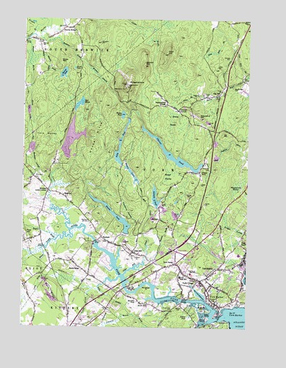 York Harbor ME Topographic Map TopoQuest - Topographical map of maine