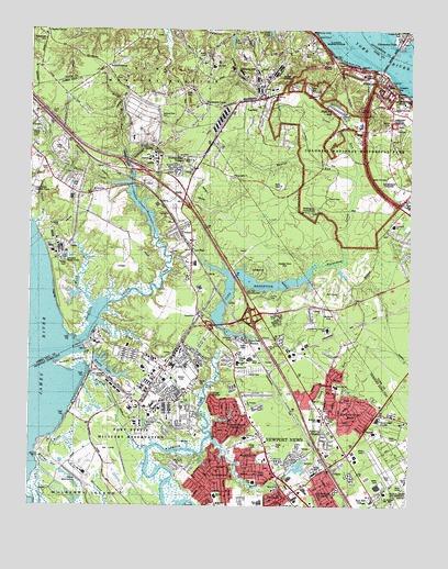 Yorktown Va Topographic Map Topoquest