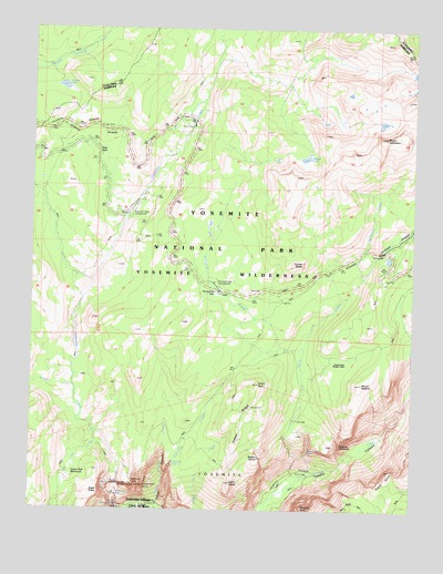 Yosemite Falls Ca Topographic Map Topoquest