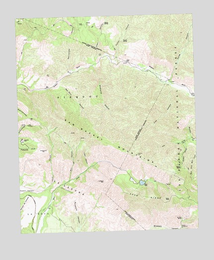 Zaca Lake, CA USGS Topographic Map