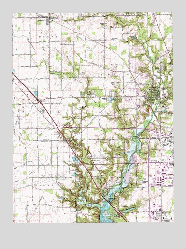 Zionsville, IN USGS Topographic Map