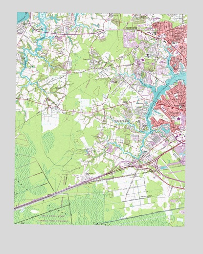 Bowers Hill, VA USGS Topographic Map