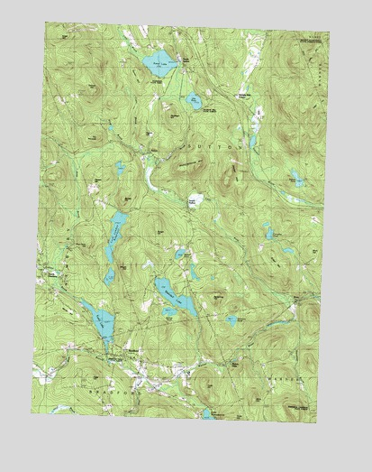 Bradford, NH USGS Topographic Map