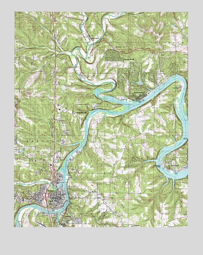 Branson Mo Topographic Map Topoquest