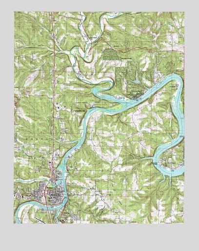 Branson MO Topographic Map TopoQuest - City map of branson mo