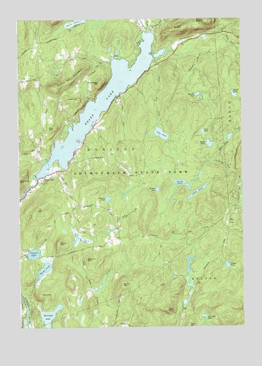 Brant Lake, NY USGS Topographic Map
