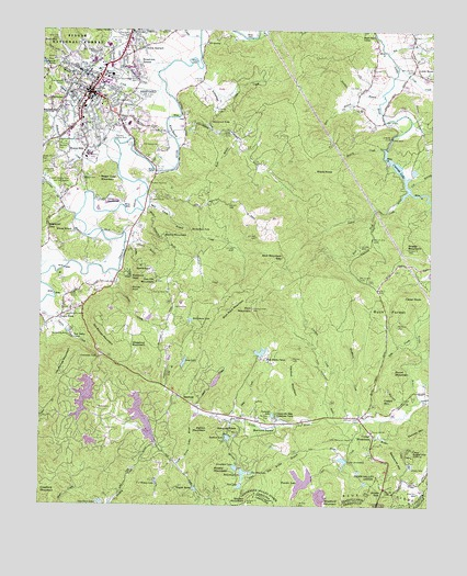 Brevard, NC Topographic Map   TopoQuest