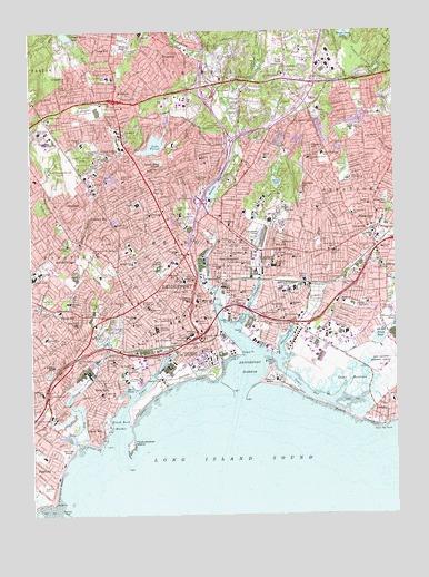Topographic Map Ct.Bridgeport Ct Topographic Map Topoquest