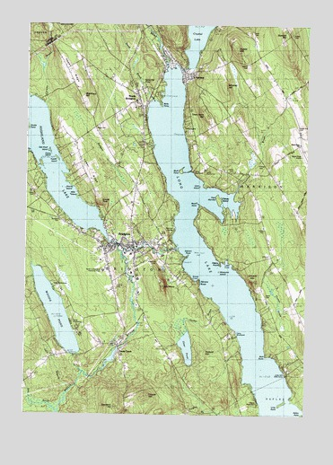 Bridgton ME Topographic Map TopoQuest - Topographical map of maine