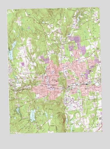 Topographic Map Ct.Bristol Ct Topographic Map Topoquest