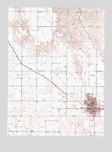 Broken Bow Ne Topographic Map Topoquest