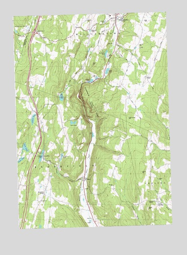 Brookfield, VT USGS Topographic Map
