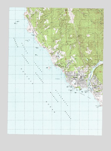 Brookings Or Topographic Map Topoquest