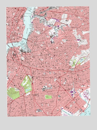 Brooklyn Ny Topographic Map Topoquest