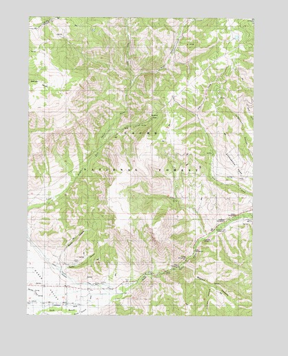 Browns Hole, UT USGS Topographic Map