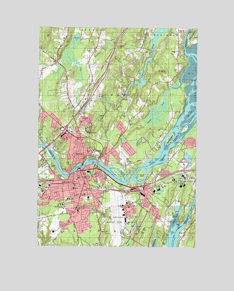 Brunswick ME Topographic Map TopoQuest - Topographical map of maine