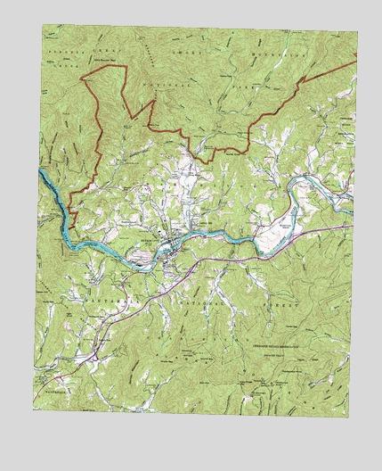 Bryson Nc Map.Bryson City Nc Topographic Map Topoquest