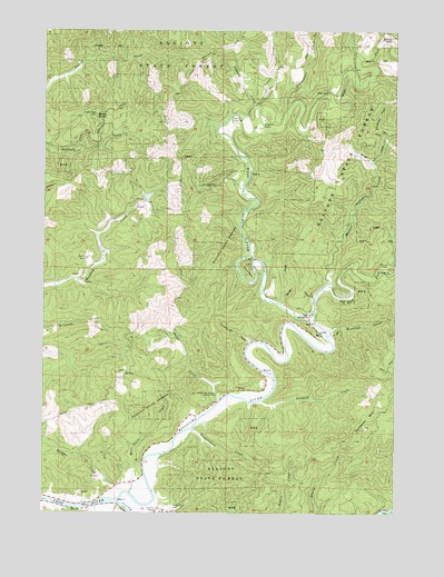 Allegany, OR USGS Topographic Map
