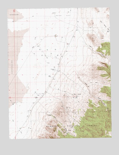 Bullwhacker Springs, NV USGS Topographic Map