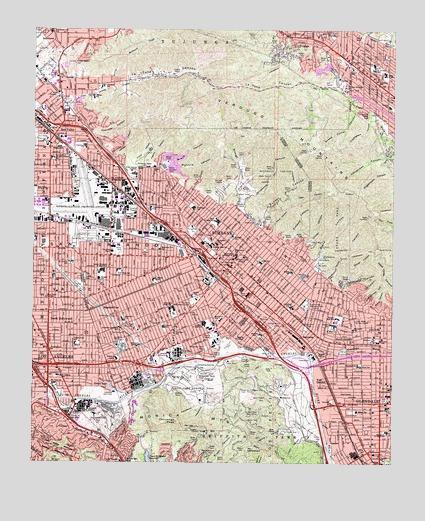 Burbank Ca Topographic Map Topoquest