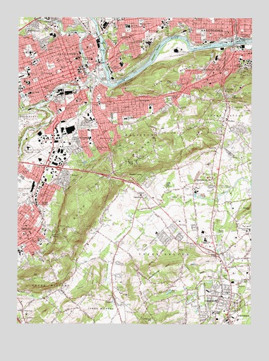 Allentown East, PA USGS Topographic Map