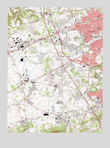 Allentown West, PA USGS Topographic Map