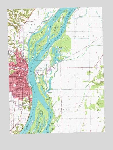 Burlington Ia Topographic Map Topoquest