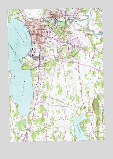 Burlington, VT Topographic Map - TopoQuest