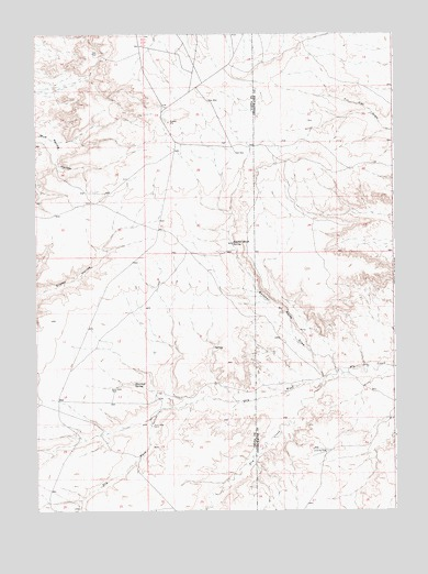 Butcher Knife Draw, WY USGS Topographic Map
