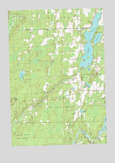 Butternut Lake, WI Topographic Map   TopoQuest