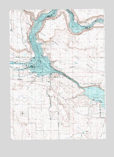 C J Strike Reservoir Topo Map, Owyhee County ID (C J ...