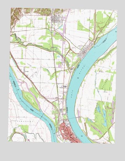 Cairo, IL Topographic Map - TopoQuest on