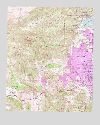 Calabasas, CA Topographic Map - TopoQuest on