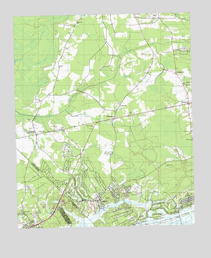 Calabash Nc Topographic Map Topoquest