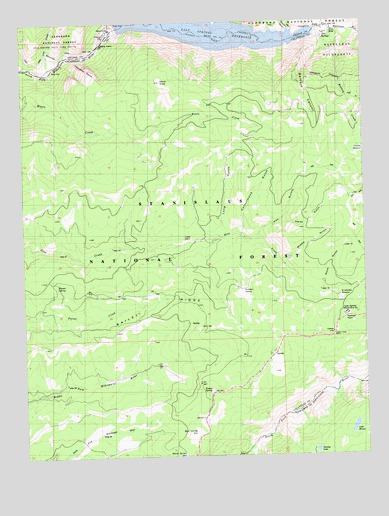 Calaveras Dome, CA USGS Topographic Map