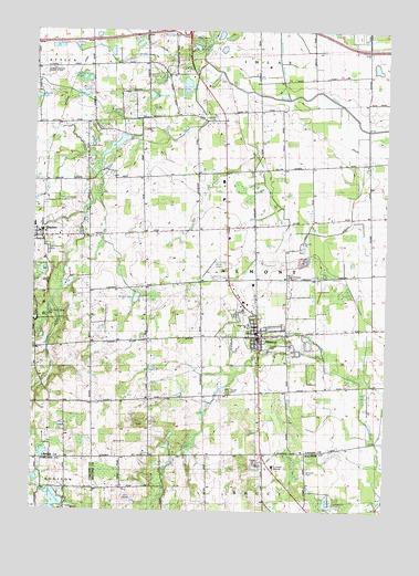 Almont Mi Topographic Map Topoquest