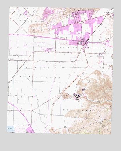 Camarillo, CA Topographic Map - TopoQuest on