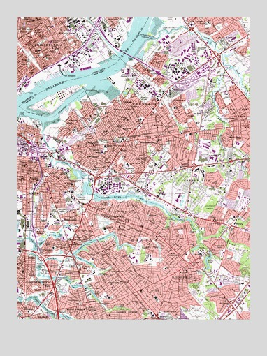 Camden, NJ USGS Topographic Map